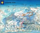 Plan des pistes de Sainte Foy Tarentaise