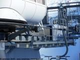 La partie haute de la gare aval peut se déplacer de 3 mètres avec le vérin de tension hydraulique
