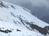 Cassure � l'origine de la coul�e provoqu�e sur la montagne de Rachas