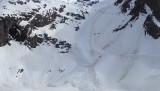 2015 04 23 - Avalanche de neige humide d�clench�e artificiellement par les pisteurs des Deux Alpes