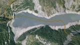 Limites communales sur le lac du Chambon