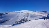 Vue des pistes du glacier le 19/12/2015