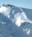 Cassure du départ de l'avalanche vue sur l'image de la caméra La fée le 15/01/2016 à 12h30