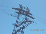 pylône 2 à passerelle intermédiaire