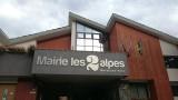 Enseigne de la nouvelle mairie Les 2 Alpes 08/07/2017