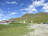 """Autre vue de la ligne de """"La Chaux Express"""" depuis la gare inférieur du Télépuérique du Mont Fort"""