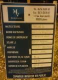 Panneau de permis de construire à la place de l'ancien hôtel Tessa le 4/11 /2017
