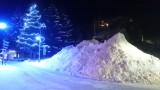 Tas de neige le long de l'avenue de la Muzelle le 17/12/2017