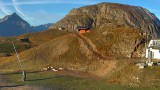 Plots de fondation et gaine électrique à l'arrivée du télésiège Vallée Blanche le 17 septembre 2018