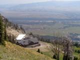 Vue de la gare aval de la télécabine de Bridger