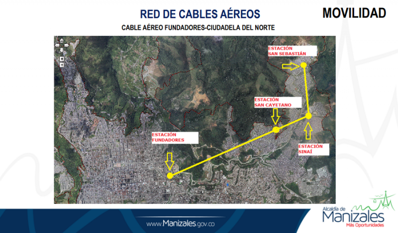 Linea 4, TCD10 Cable aéreo Manizales - Palogrande (Colombia)