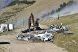 Destruction G1 du télésiège Crêtes le 4/09/2019