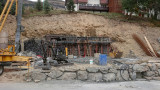 Chalet en construction dans le virage de la route du Petit Plan le 21/09/2019