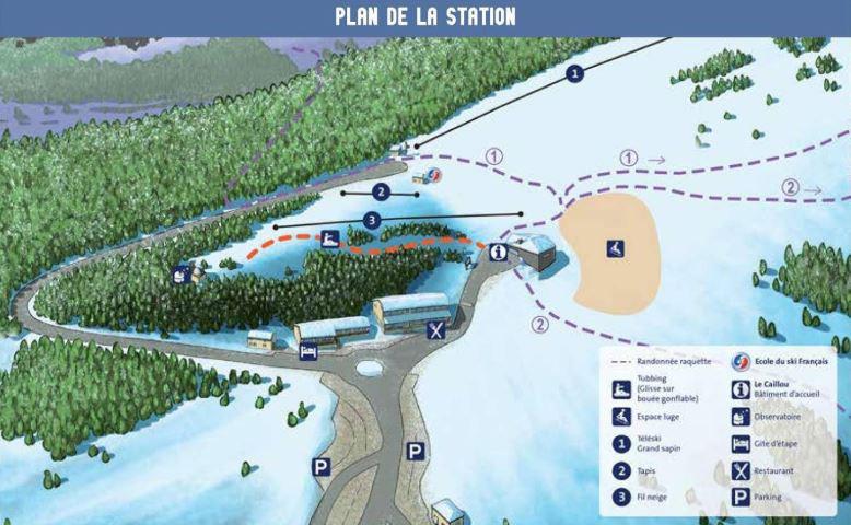 Plan des pistes lure 2021